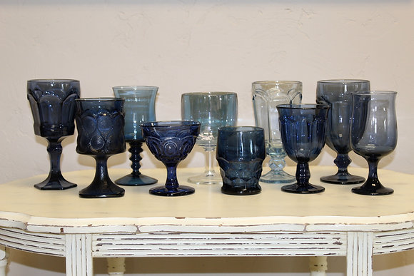 Dark Blue Depression Glassware