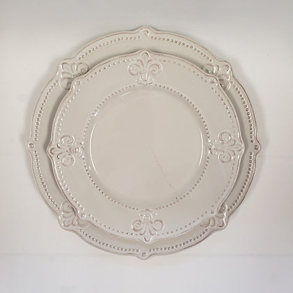 White with Blush Plate