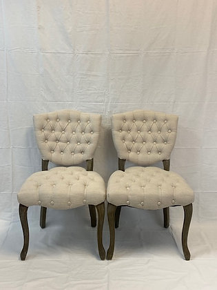 Linen Tufted Chairs