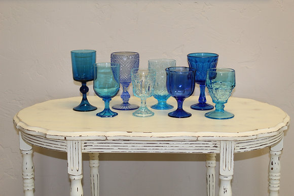 Variety Blue Depression Glassware