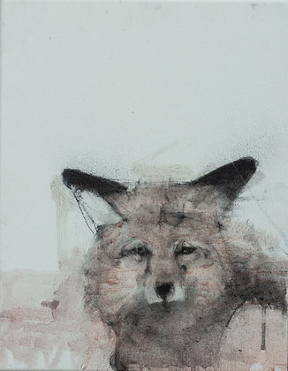 Helen Durant | Sly Eyes | Charcoal, Acrylic on Canvas | 14x11