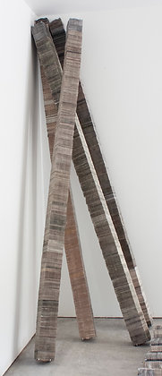 Floor Columns, Newspaper, 120x6x5.25