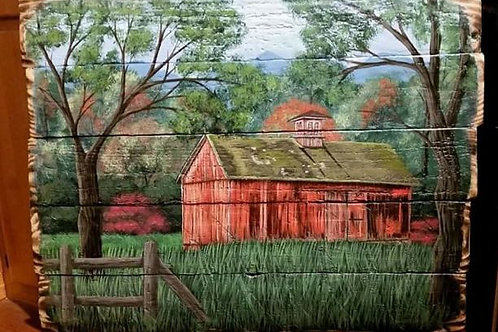 Old Red Barn Pallet Painting