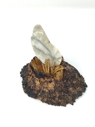 Falling Leaf #1 | Moonstone Alabaster | 5x6x5