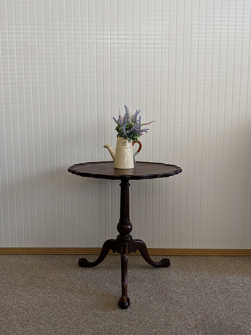 Antique Scalloped Edge Table