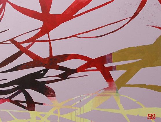 """Grass I   Acrylic on Canvas   36x48"""""""