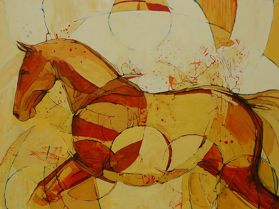 Tanner Jensen | Winter's Sun | Oil, Acrylic | Charcoal on Canvas | 36x48