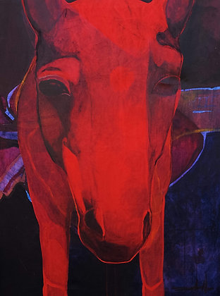 SNoice, Red Horse | Acrylic on Canvas | 48x36