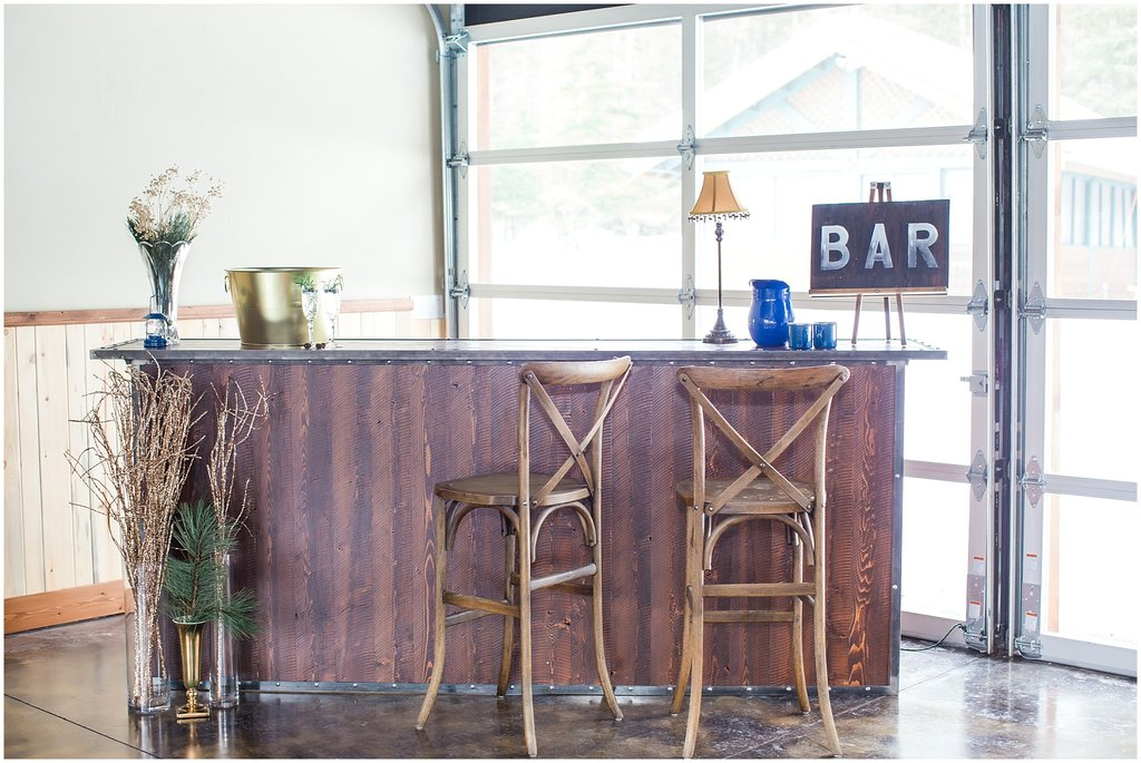 Barn Door Brand Bar, X-back Stools