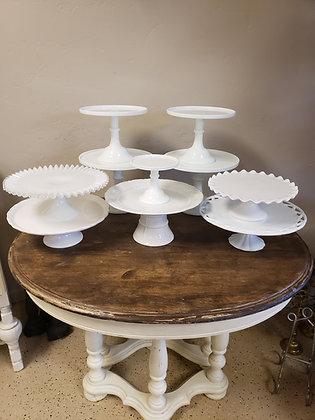 White Cake Plates