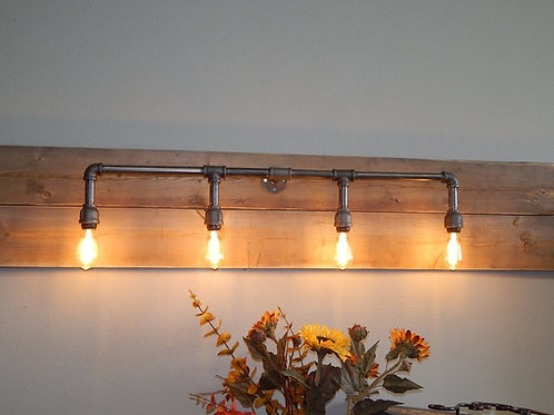 Four Bulb Pipe Lights
