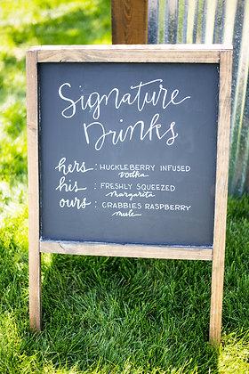 Sandwich Chalk Board Sign
