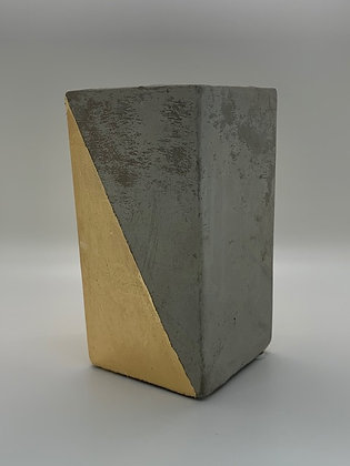 Concrete and Gold Vase