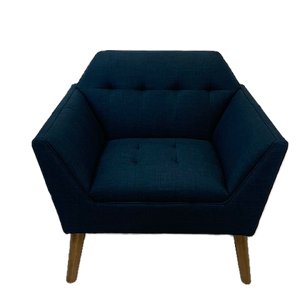 Navy Linen Chair