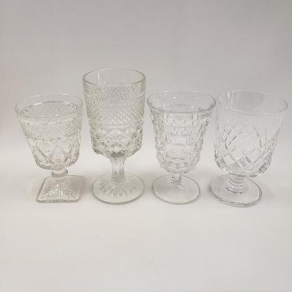 Clear Depression Glassware