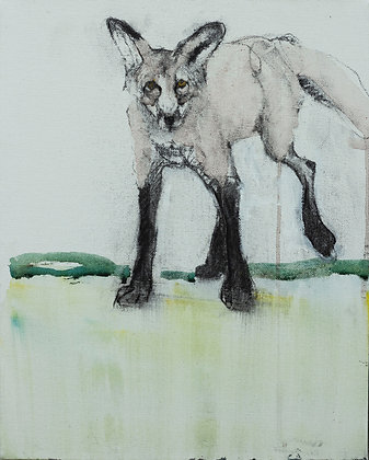 Helen Durant | Foxtrot | Charcoal, Acrylic on Canvas | 14x11""