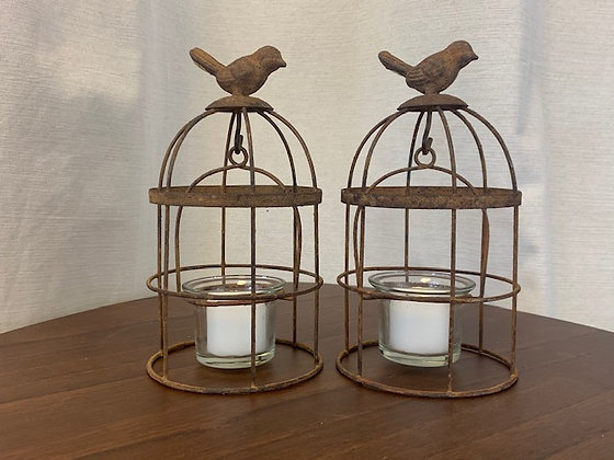 Hanging Bird Cage Votives