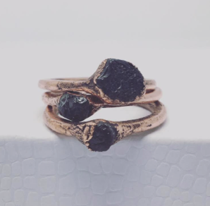 Chelsea Martini | Copper and Sapphire Rings
