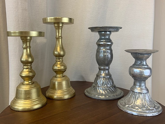 Assorted Pedestal Candle Holders