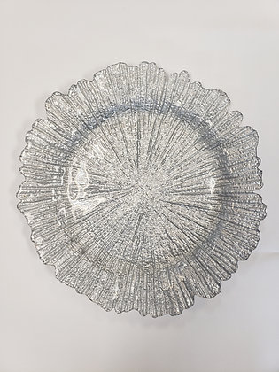 Silver Coral Reef Charger