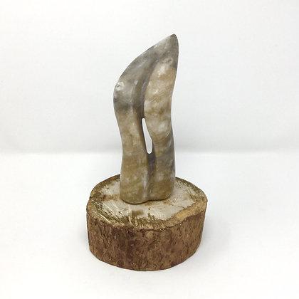 "Tree Reach | Grey Moonstone Alabaster | 6.25x2.5x2.25"" | 100."