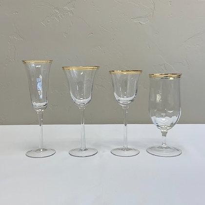 Gold Rim Glassware Collection