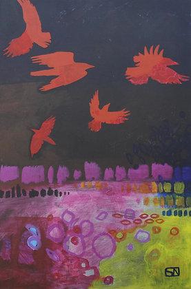 "Stillwater Shore   Acrylic on Canvas   42x28"""