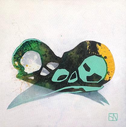 Asleep for Now | Acrylic on Canvas | 27x27