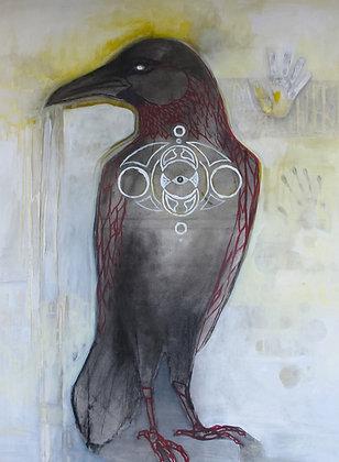 Raven Wisdom | Acrylic on Canvas | 60x48