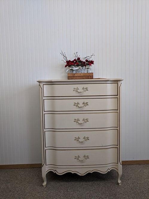 French Provincial 5 Drawer Dresser