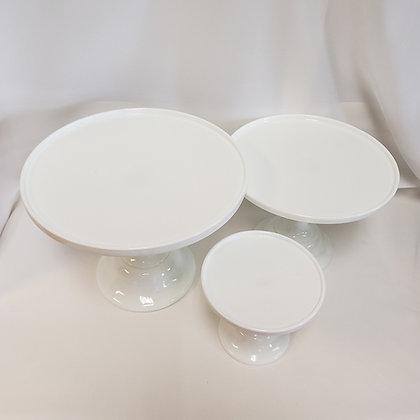 Milk Glass White Cake Plates