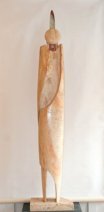 Native Femininity | Montana Travertine, Bronze | 84.5x14x7