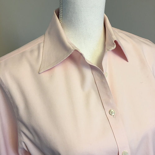 NON-IRON SOFT PINK TAILORED BUTTON DOWN