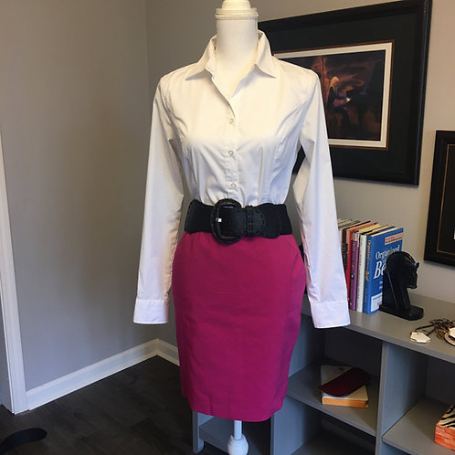 HOT PINK STRETCH COTTON SKIRT