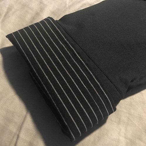 BLACK & WHITE STIPE STRETCH BUTTON DOWN SHIRT - NWT