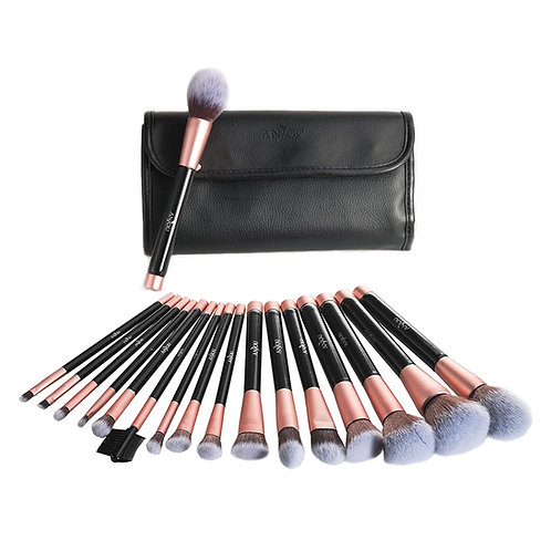 16-PIECE COSMETIC BRUSH SET W/CASE