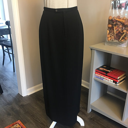 LONG BLACK SKIRT - WOOL CREPE