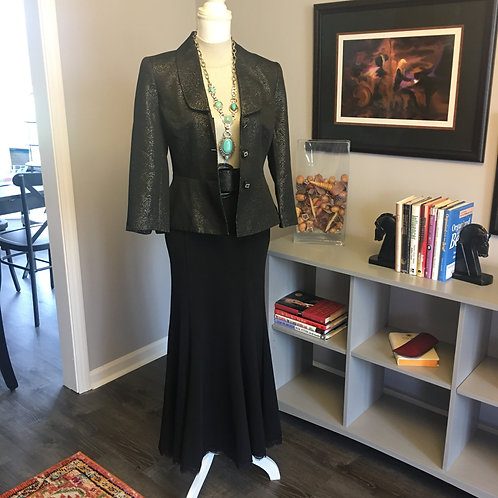 BLACK LONG TRUMPET SKIRT - NWT