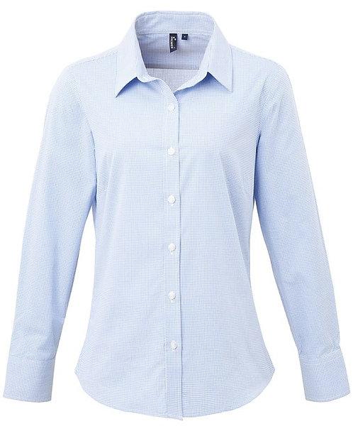 Women's Microcheck L/S Shirt