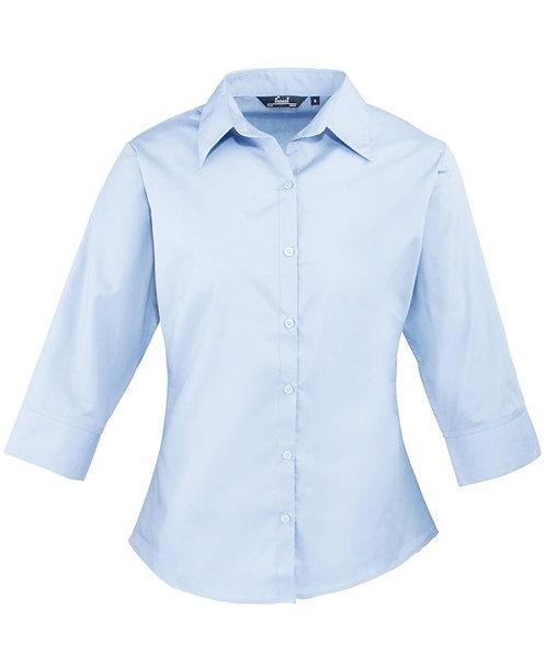 Women's 3/4 Sleeve Poplin Blouse