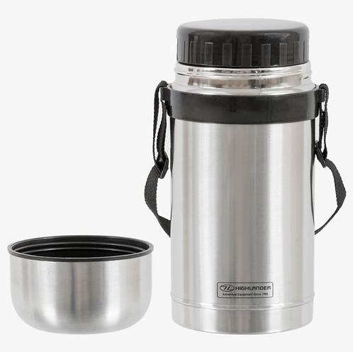 1l Duro Food Flask Silver