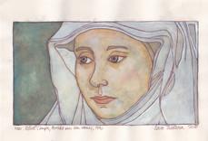 """Naar Robert Campin, """"Portret van een vrouw',1430"""
