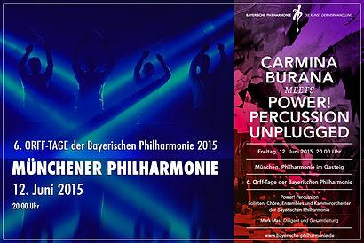 Drummer München Philharmonie Firmenfeier Show Musik Team building