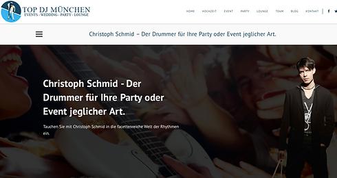 DJ und Drums München Drummer Schlagzeuger München DJ Event Lounge Musik