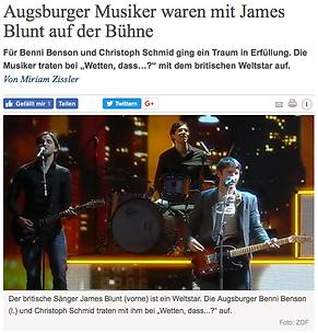 James Blunt Band Schlagzeuger Drummer Augsburg Münche Christoph Schmid