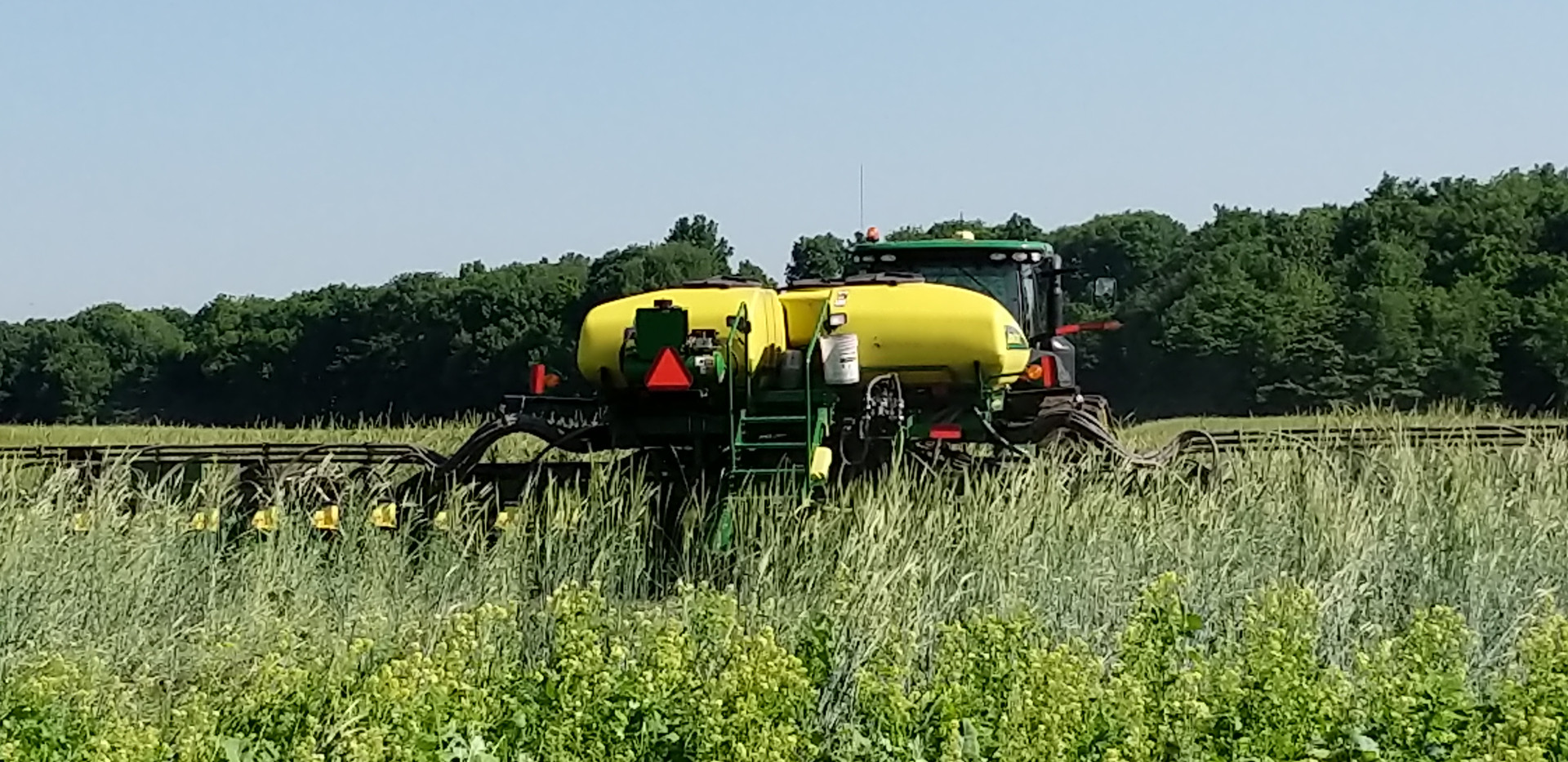 Planting soybeans into standing cover cr