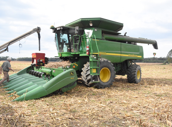 Refilling cover crop seeder, Knox County