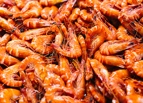 Queensland Tiger Prawns Whole Cooked FROZEN