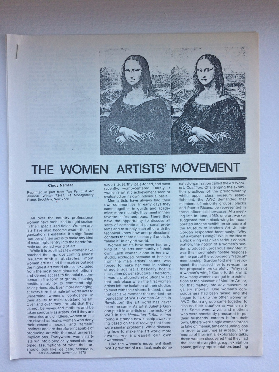 The Woman Artists' Movement