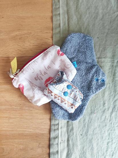 Lot de serviettes hygieniques lavables - taille L